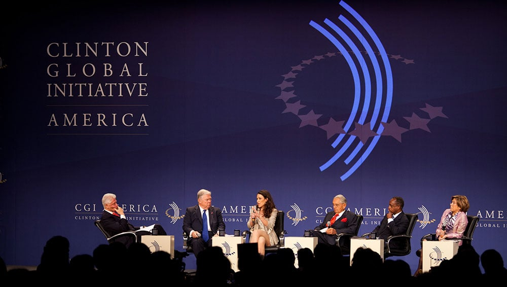 Clinton Global Initiative Panel with Simonida